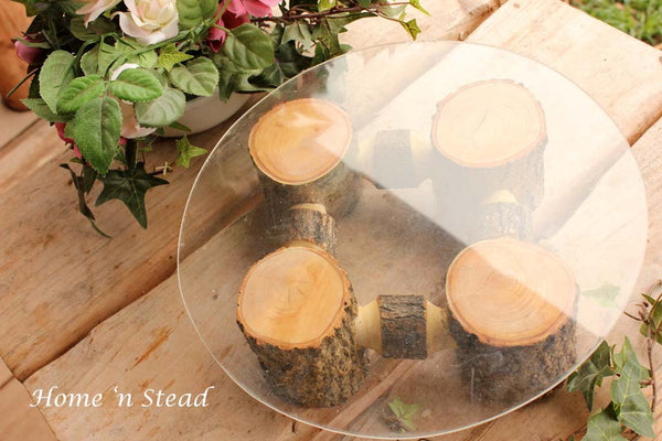 Rustic Wedding Cake Stand Table Decoration Ash Wood Stand Cupcake Tray Party Favors - thatfamilyshop.com