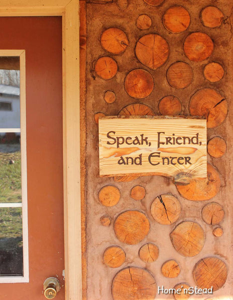Speak, Friend, and Enter Lord of the Rings Quote Funny Door Welcome Sign Wall Hanging Fan Gift Greeting Plaque Rustic Wood Burned LOTR-thatfamilyshop.com