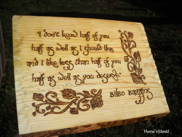 Bilbo Baggins Quote, Hobbit Wall Hanging, Fan Gift Lord of the Rings Sign Plaque LOTR-thatfamilyshop.com