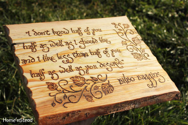 Bilbo Baggins Quote Hobbit Saying Wall Hanging The Hobbit Fan Gift Lord of the Rings Sign Plaque Rustic Wood Burned LOTR-thatfamilyshop.com