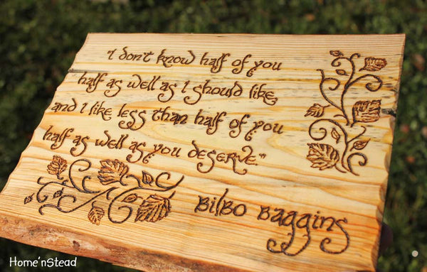 Bilbo Baggins Quote, Hobbit Wall Hanging, Fan Gift Lord of the Rings Sign Plaque LOTR - thatfamilyshop.com