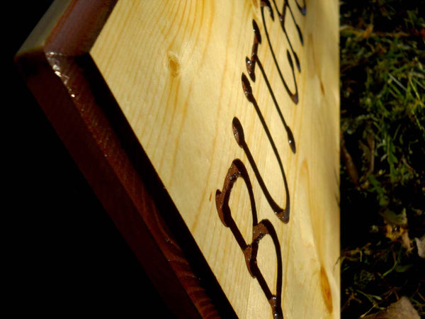Wood Sign Large Custom Name Plaque Engraved Entrance Welcome Cottage Cabin-thatfamilyshop.com