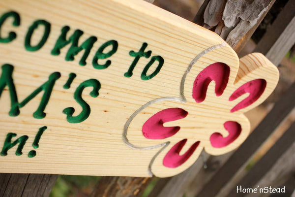 Garden Sign Custom Flower Plaque Name Outdoor Gardener's Christmas Gift for Mom Grandma-thatfamilyshop.com