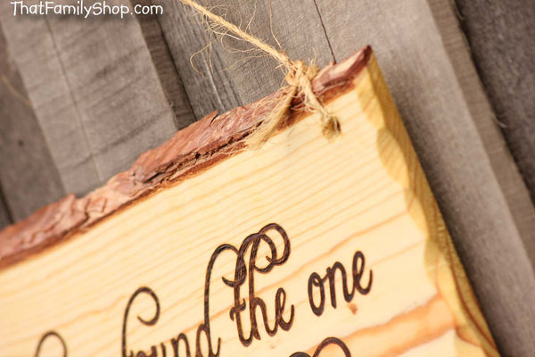 "Wood Burned Sign Rustic Wedding Decor Wall Hanging ""I have found the one whom my soul loves"" - thatfamilyshop.com"
