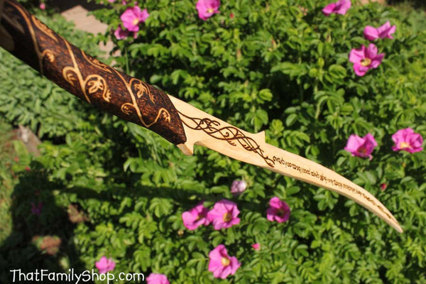 Girls Wooden Sword Arwen's Lord of the Rings Hadhafang Replica Costume Prop-thatfamilyshop.com