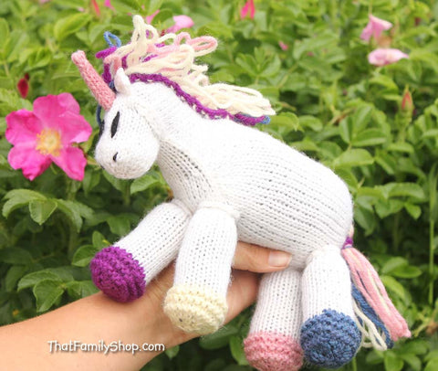 Pixie: Unicorn Girl's Valentine's Day Gift Magical Fantasy Pony Stuffed Animal Waldorf Toy Fairy Horse Baby Baby Shower Gift - thatfamilyshop.com