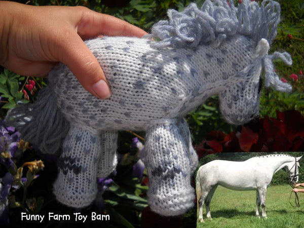 Buddy: Knitted Pony Stuffed Animal Horse Natural Waldorf Inspired Eco Friendly Toy - thatfamilyshop.com