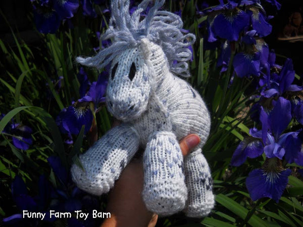 Buddy: Knitted Pony Stuffed Animal Horse Natural Waldorf Inspired Eco Friendly Toy-thatfamilyshop.com