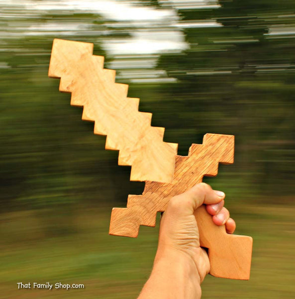 Minecraft Sword Wooden Toy Sword Computer/Video Game Replica Costume Prop - thatfamilyshop.com