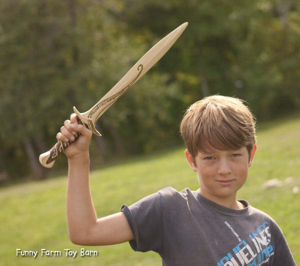 Frodo's Sting Wooden Toy Sword Lord of the Rings Toy Movie Replica Costume Prop-thatfamilyshop.com