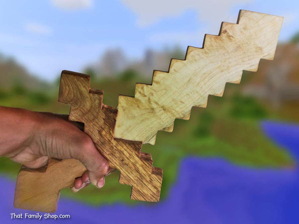 Minecraft Sword Wooden Toy Sword Computer/Video Game Replica Costume Prop-thatfamilyshop.com