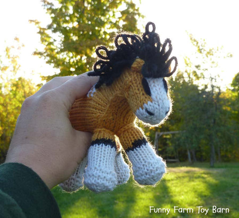 Storm: Mini Pony Baby Colt, Stuffed Horse, Spirit and Rain's Baby, Natural Waldorf Toy - thatfamilyshop.com