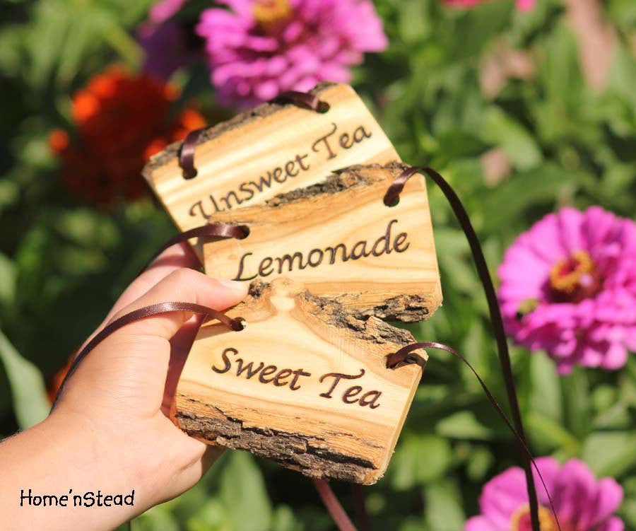 Set of 3 Rustic Drink Tags/Labels - thatfamilyshop.com