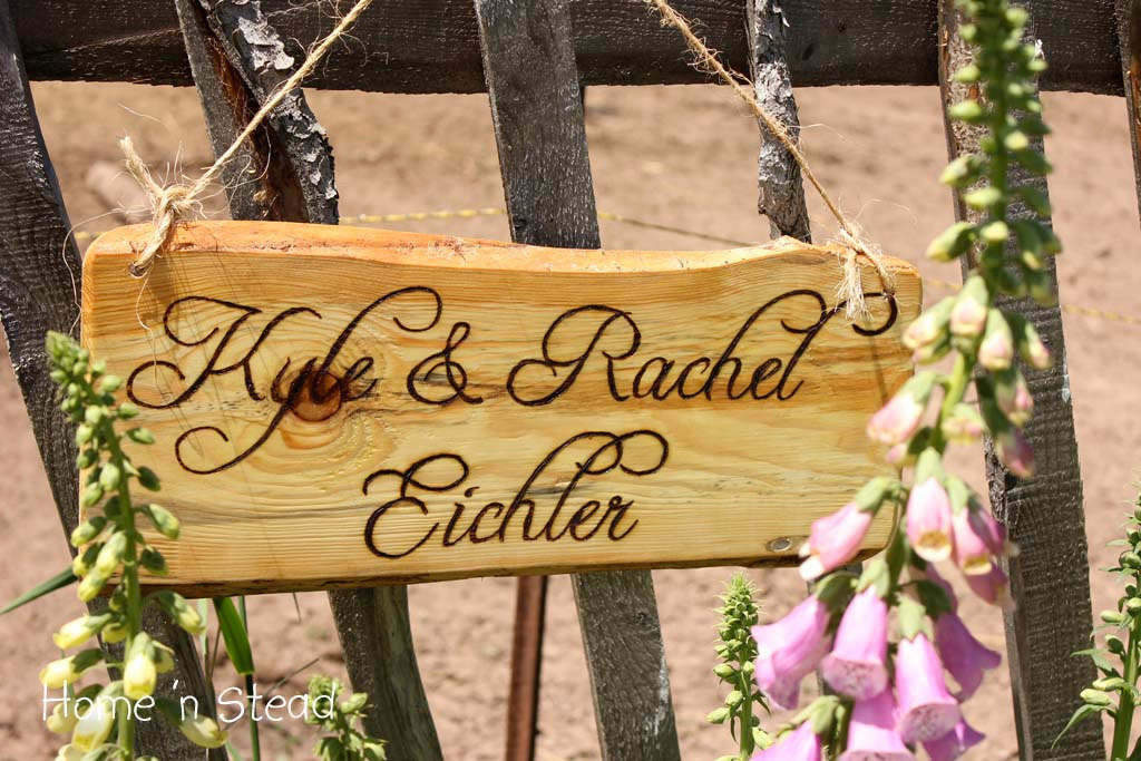 Wood Burned Custom Rustic Wedding Plaques Names Cabin Signs Personalized