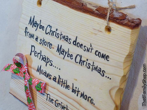 Grinch Quote Suess Plaque Sign Decoration Country Gift Christmas Holiday Decor - thatfamilyshop.com
