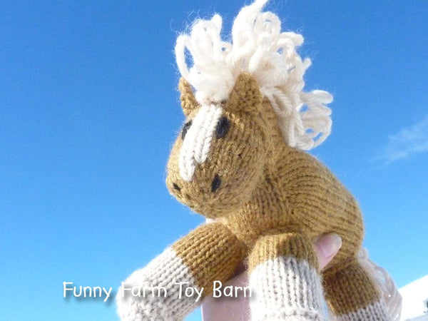Honey: Golden Colored Pony Stuffed Animal Horse Baby Gift Girl's Waldorf Natural Toy-thatfamilyshop.com