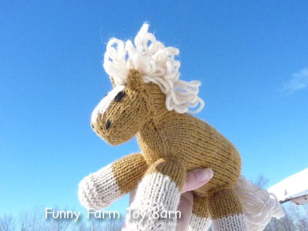 Honey: Golden Colored Pony Stuffed Animal Horse Baby Gift Girl's Waldorf Natural Toy - thatfamilyshop.com