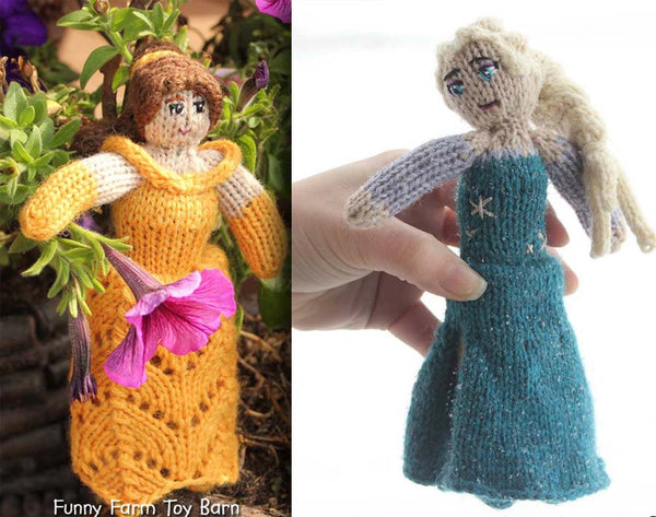 Slender Body, Girl's Character Doll Girls Knitted Princess Doll Disney Inspired Natural Wool Waldorf Girls Toy - thatfamilyshop.com