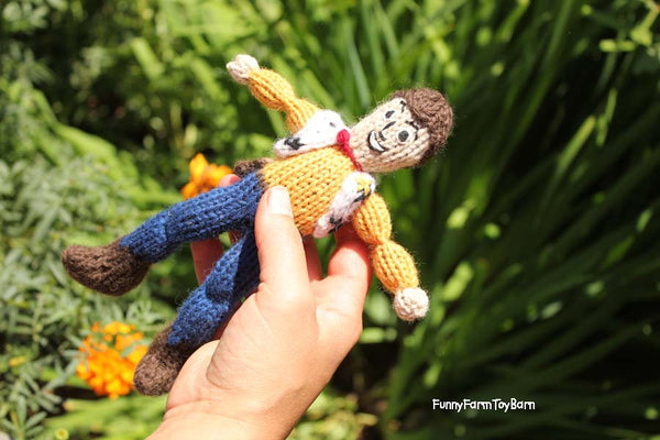 Slender Body, Boys Custom Character Doll, Super Hero, Disney Prince, You Choose, Natural Wool Materials-thatfamilyshop.com