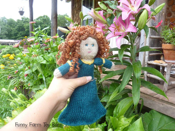Chunky Body, Girls Custom Character Doll, You Choose Character, Disney Princess, Natural Wool Girls Toy - thatfamilyshop.com