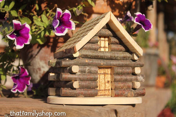 Miniature Cabin Cake Topper Rustic Wedding Display - thatfamilyshop.com