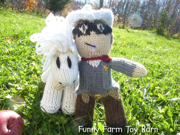 Silver and the Lone Ranger Doll and Pony Toy Set, READY TO SHIP All Natural,-thatfamilyshop.com