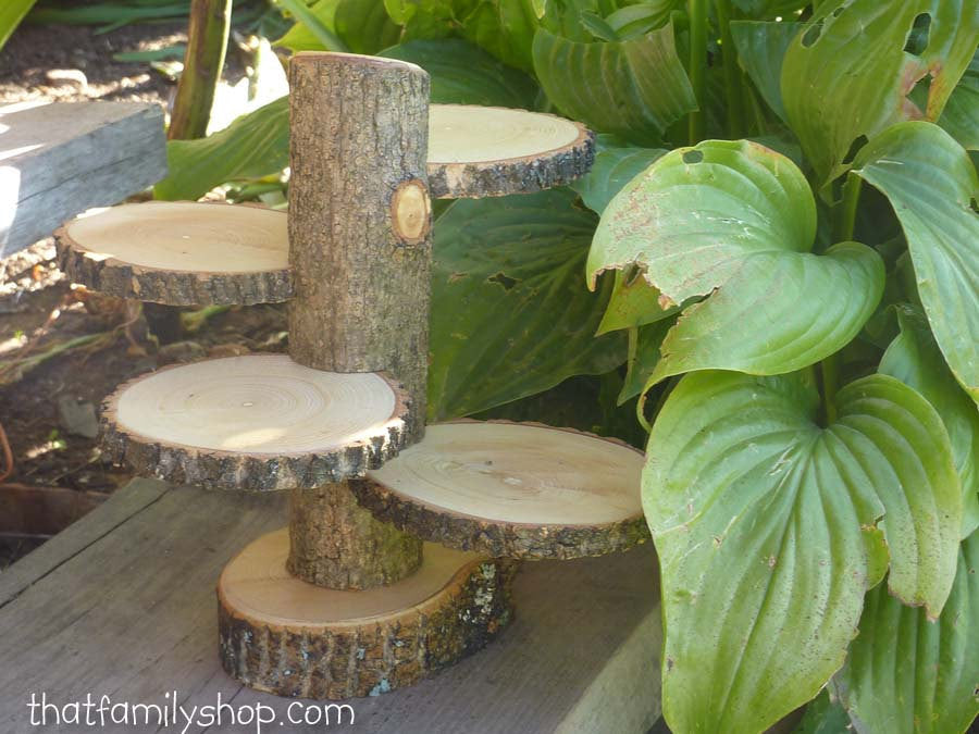 Rustic 4-Tiered Stand Candles Flowers Wedding Table Center Piece Home Decor-thatfamilyshop.com