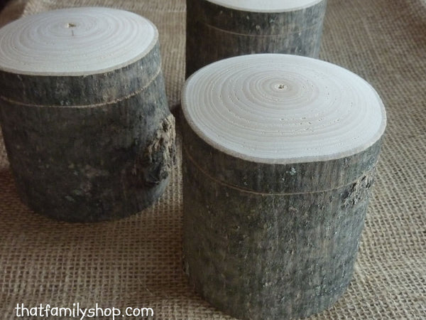 Hollow-Log Spice Pot and General-Purpose Box, Rustic Storage Container Gift - thatfamilyshop.com