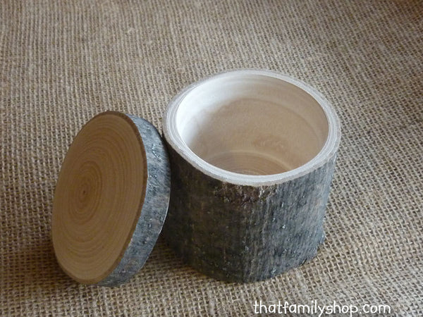 Hollow-Log Spice Pot and General-Purpose Box, Rustic Storage Container Gift-thatfamilyshop.com