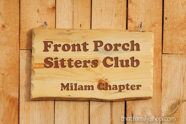 Custom Engraved Rustic Sign, Cabin Name Display Wood Plaque - thatfamilyshop.com