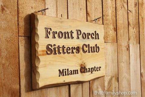 Custom Engraved Rustic Sign, Cabin Name Display Wood Plaque-thatfamilyshop.com