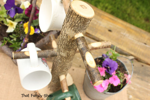 Kitchen Display Coffee Cup Tree Mug Holder Rustic Teacup-thatfamilyshop.com