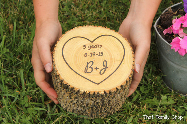 Customizable Names/Date Jewelry Box Extra Deep Personalization Organizer Gift Rustic Log-thatfamilyshop.com