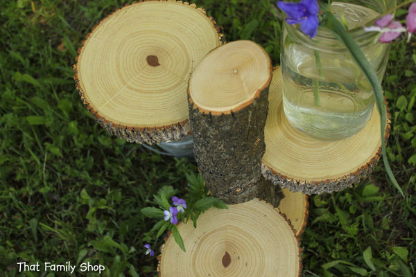 Large 3-Tiered Rustic Wedding Decor Tree Mason Jar / Candle Stand Table Center Piece Cupcake Holder-thatfamilyshop.com