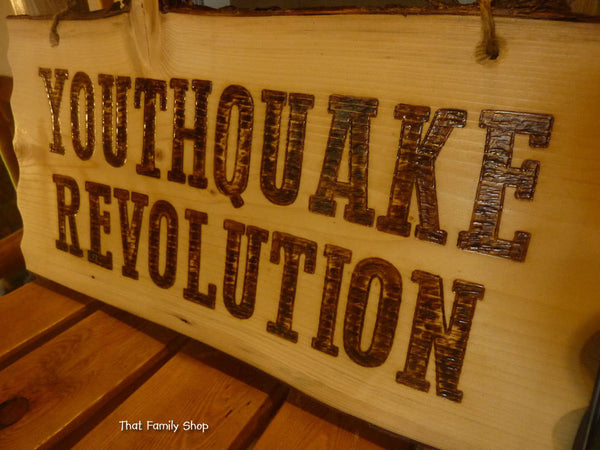 Rustic Sign Wood Burned Custom Plaque Names Cabin Personalized - thatfamilyshop.com