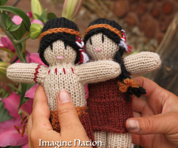 Little Indian Boy and Girl Doll Set Natural Waldorf Educational Toys Ready To Ship-thatfamilyshop.com