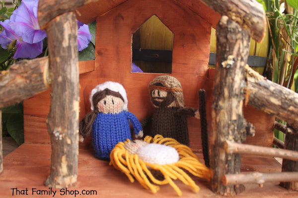Christmas Nativity Stable and People Combined Set -Limited Sale Price!-thatfamilyshop.com