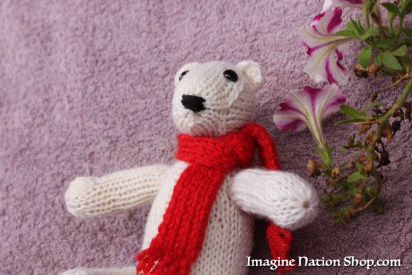 Polar Bear, Plush Toy, Natural Teddy, Wool Materials, Christmas Bear-thatfamilyshop.com