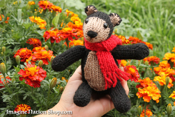 Black Bear, Plush Toy, Natural Teddy, Wool Materials, Christmas Bear - thatfamilyshop.com
