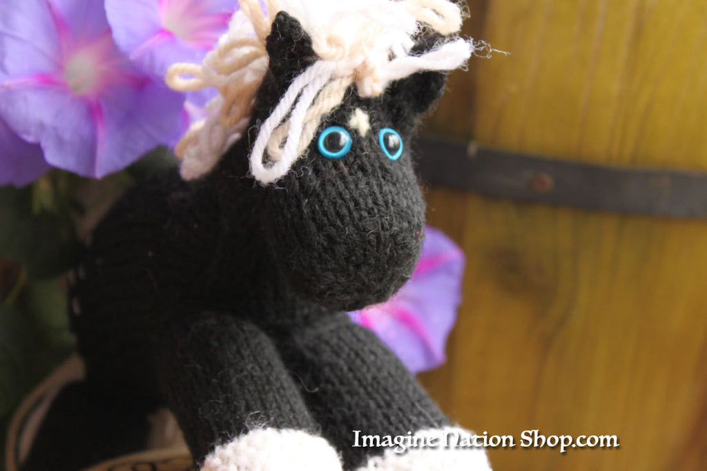 Magic: Black Chocolate Dapple - Ready to ship! - Pony Stuffed Animal Toy Horse - thatfamilyshop.com