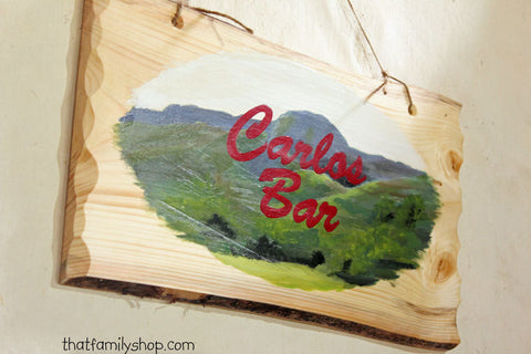 Custom Painted Scene Sign on a Rustic Wood Slab Wall Hanging Decor - thatfamilyshop.com