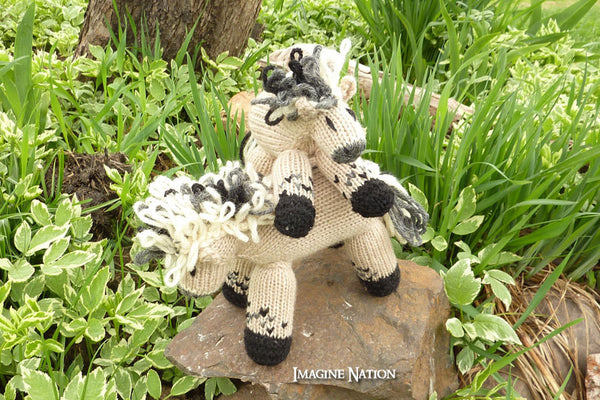 Mini Molly: Fjord Pony, Filly, Plush Horse, Natural Waldorf Toy - thatfamilyshop.com