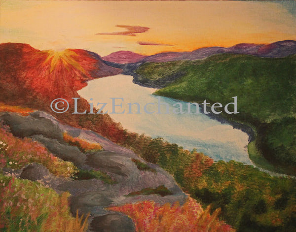 Original Painting Lake of the Clouds at Sunrise **Actual Painting** - thatfamilyshop.com