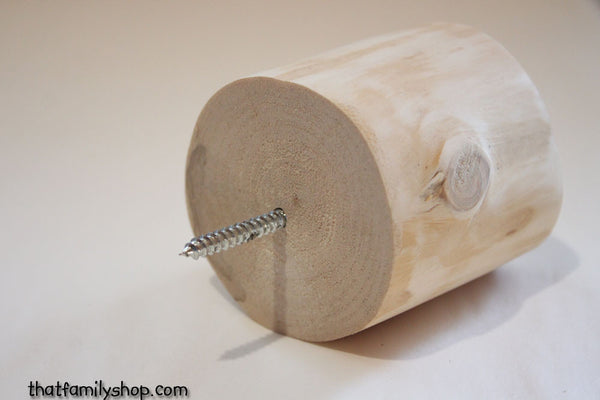 Chunky Log Wall Peg, Light Wood Minimal Design Hanger - thatfamilyshop.com