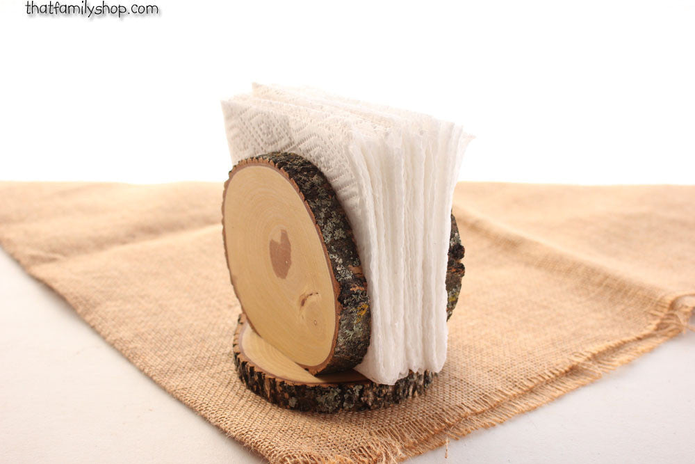 Rustic Napkin Holder Stand Country Kitchen Table Decor Rustic Wedding Table Centerpiece - thatfamilyshop.com