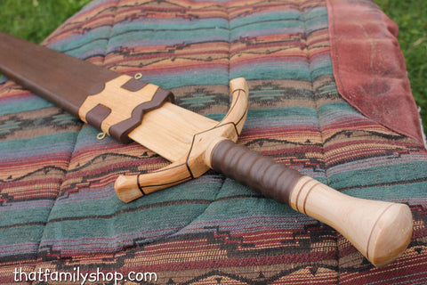 Boromir Sword Wood Replica LOTR Lord of the Rings Movie Prop-thatfamilyshop.com