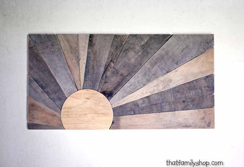Pallet Wood Sunset Wall Art Barnwood Sign - thatfamilyshop.com
