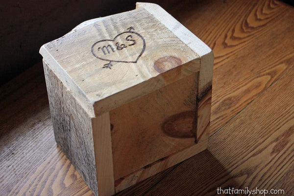 Personalized Rustic Box Table Decor Display Barnwood Woodsy Wedding-thatfamilyshop.com
