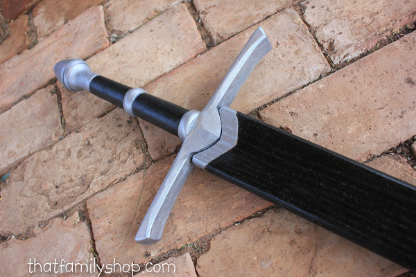 Painted Aragorn's Strider Ranger Sword LOTR-Inspired Wooden Replica from Lord of the Rings-thatfamilyshop.com
