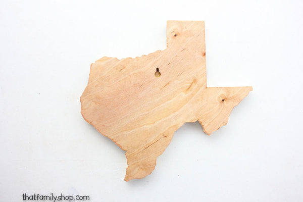 Your State Plaque Unique Log End Cutout Slice Wall Display - thatfamilyshop.com